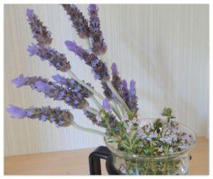 ラベンダーとタイムの花