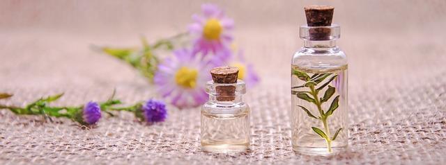 アロマオイルで香り変化